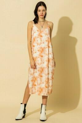 Beachy Vibes Dress-Orange