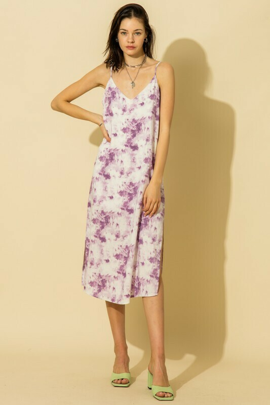 Beachy Vibes Dress-Purple