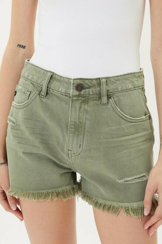Olive Hi RIse Shorts