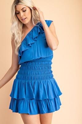 Pricilla One Shoulder-Blue