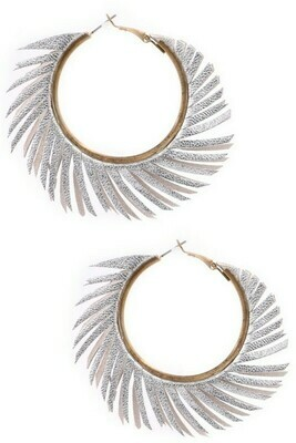 Fringy Hoops-Silver