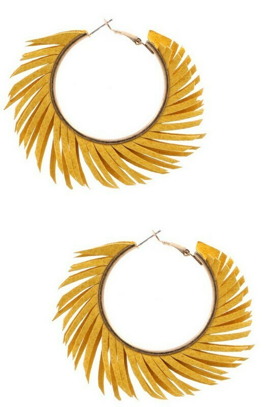 Fringy Hoops-Yellow