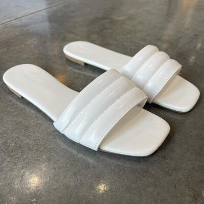 Puffy Slide-Wht