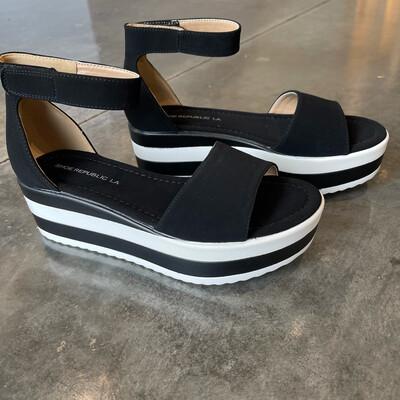 Striped Platform Sandal