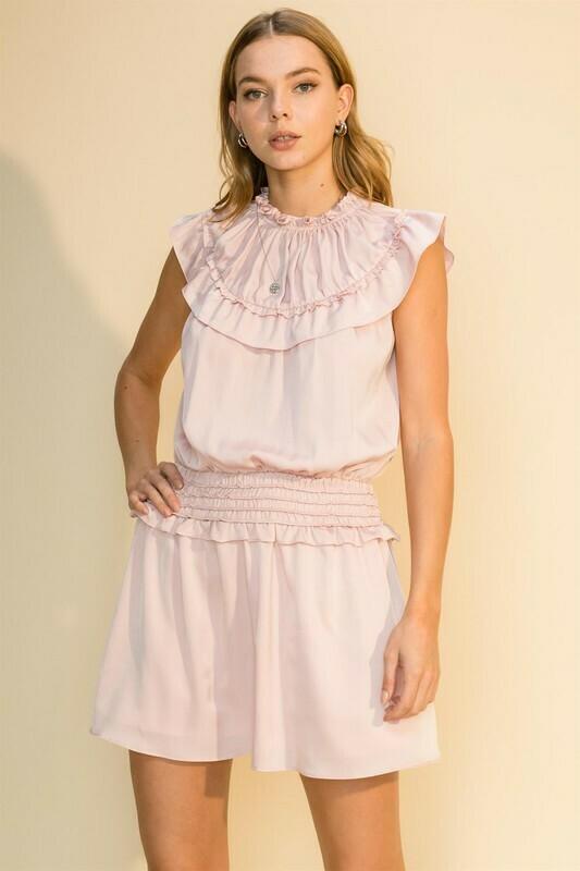 Ruffled Up Dress-Pink