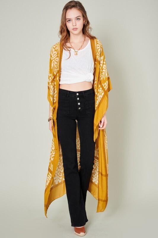 Bali Duster Kimono-Yelllow