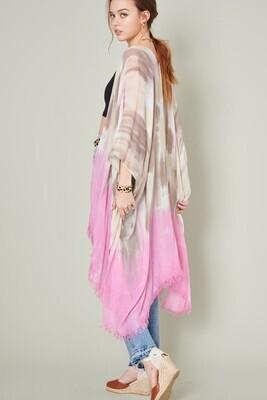 Ombre Kimono-Pink