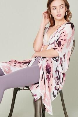 Watercolor Kimono-Pink