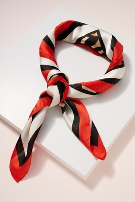 Animal Head Scarf-Red