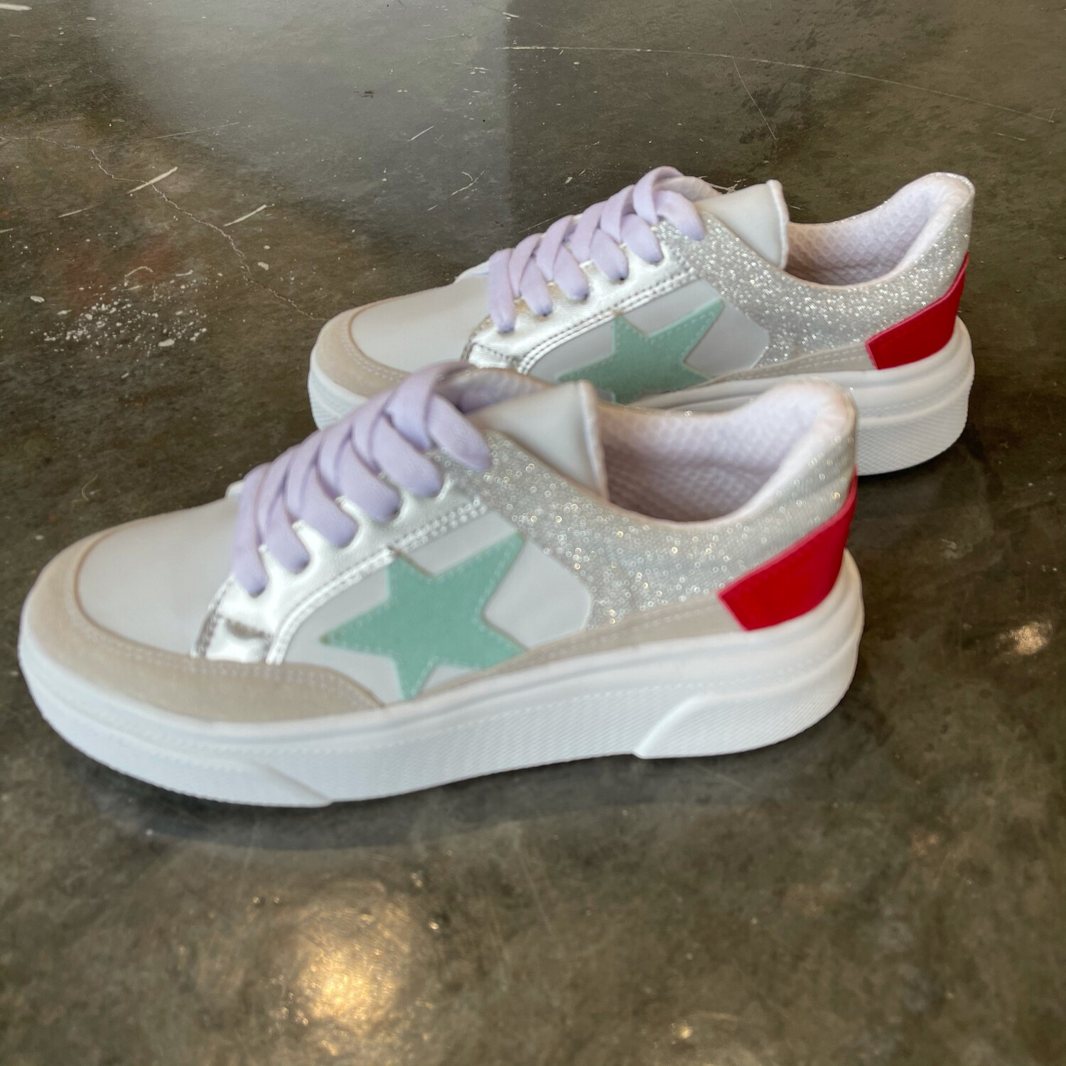 Aria Star Sneaker-Red