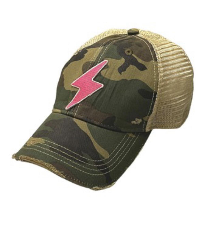 Pink Bolt Hat