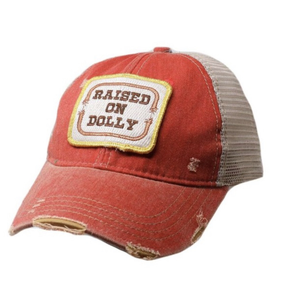 Raised On Dolly Hat-Red