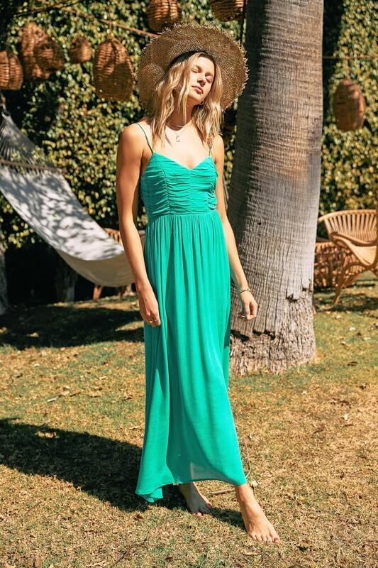 Emerald Waves Dress