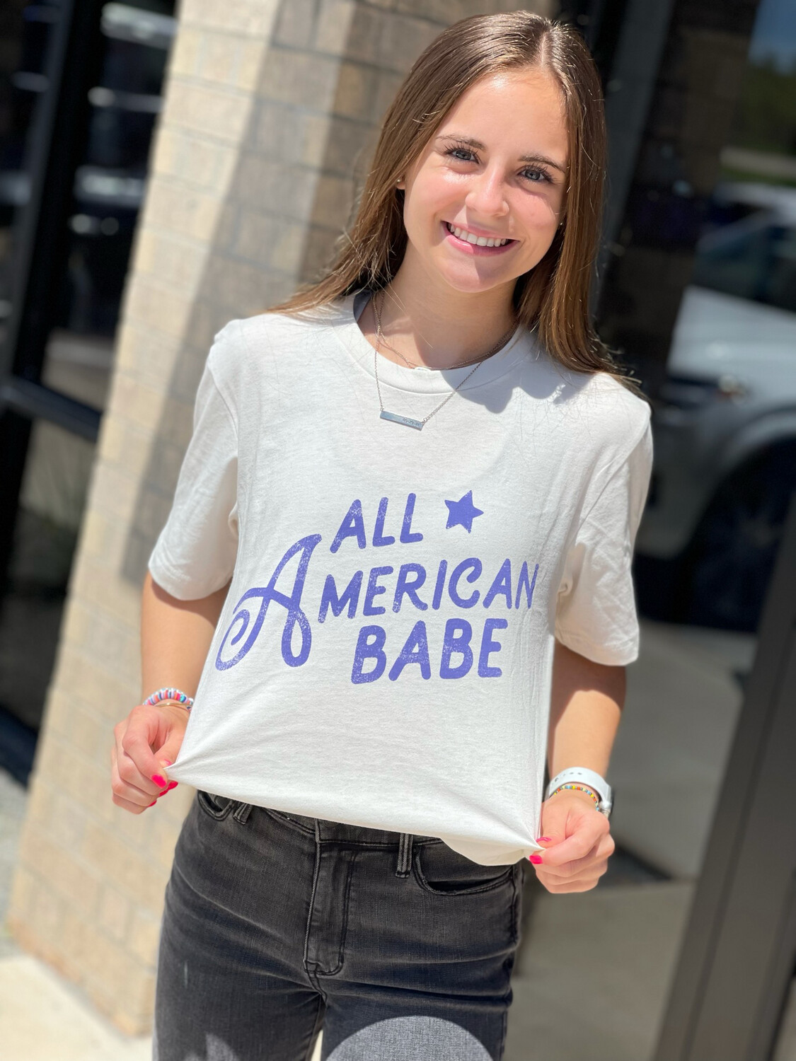 All American Babe-Wht
