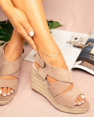 Full Moon Wedge-Taupe