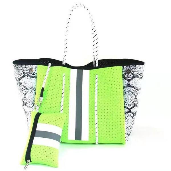 Neon Green Neoprene Bag