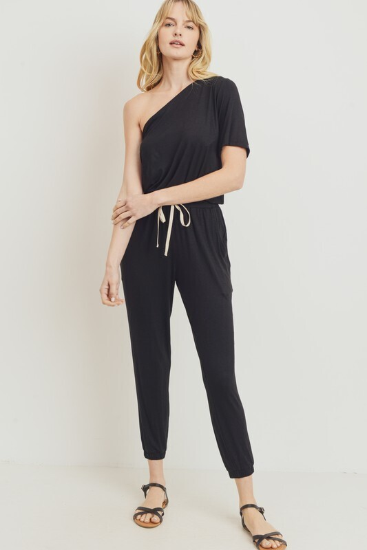 One Sided Jumper-Blk