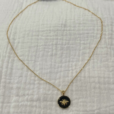 Bee You Necklace-Blk