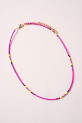 Seed Bead Choker-Pink