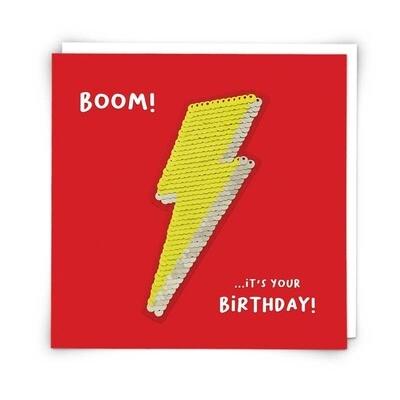Lightning Bolt Patch Card