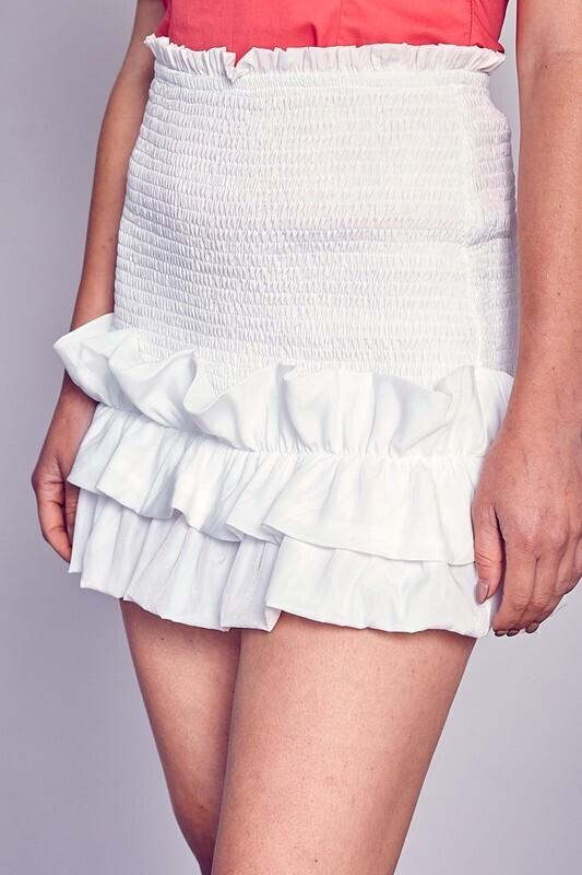 Cloud White Skirt