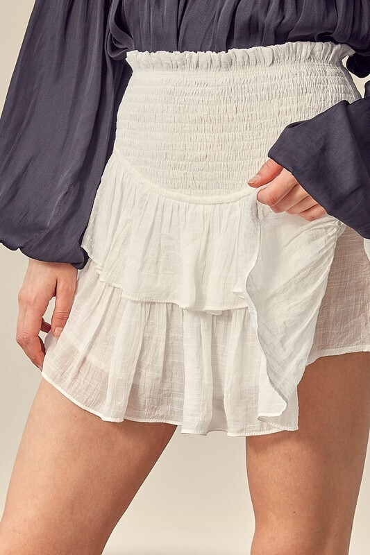 White Lights Ruffle Skirt