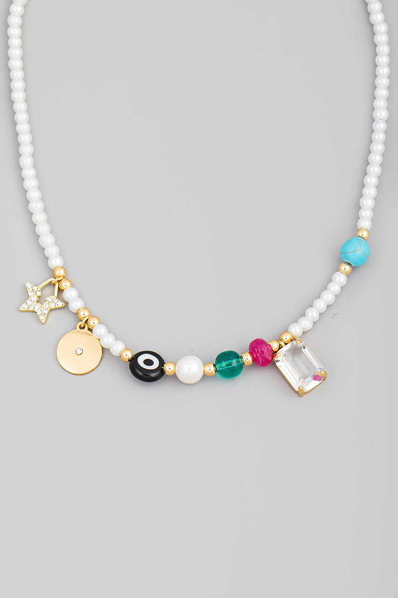 Ball beaded Charm Necklace