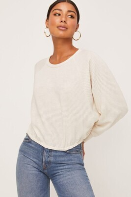 Ty Rib Knit Top-Cream