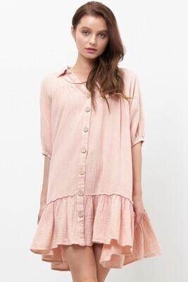 Gauzy Dress-Blush
