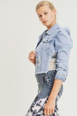 Girlie Denim Jacket-Blue