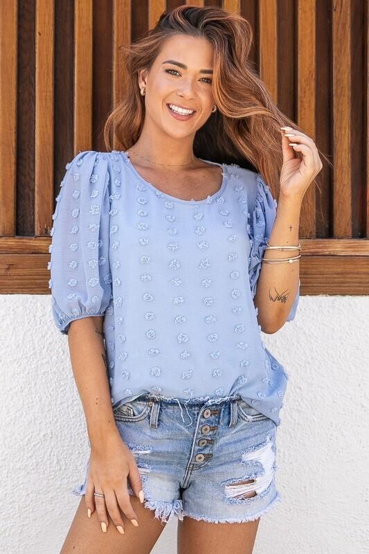 Arielle Dotty Top-Blue
