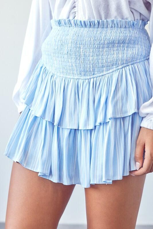 Stripe Smocked Skirt