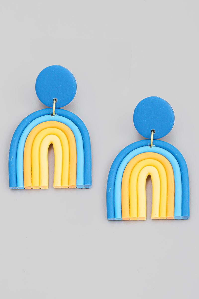 Rainbow Earrings-Blue
