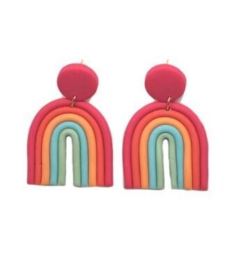 Rainbow Earrings-Red