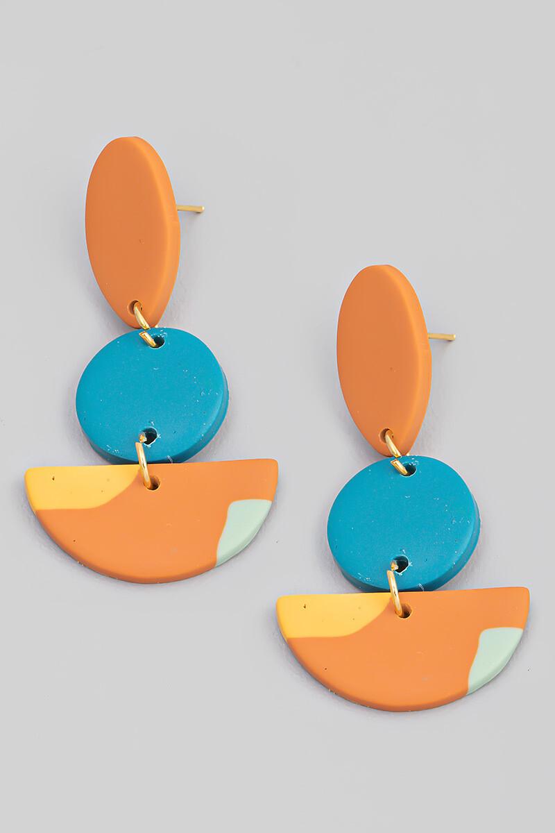 Clay Dangle Earrings-Clay