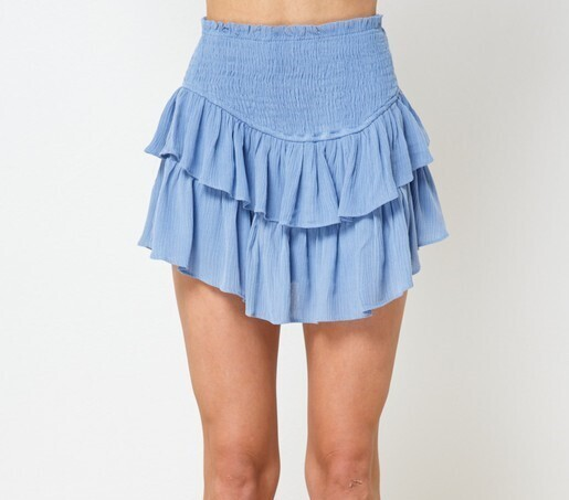 Maddie Ruffle Skirt-Periwinkle