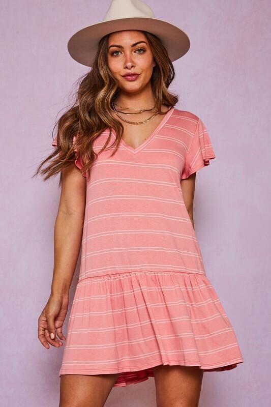 Blushing Stripe Dress