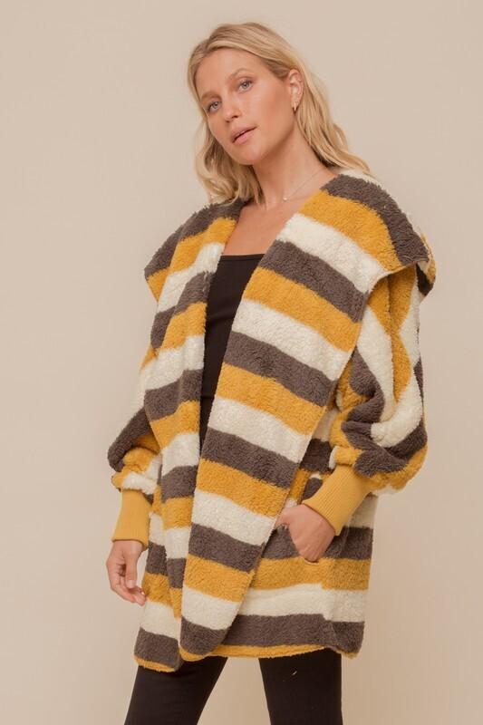 Stripe Snuggie-Mustard