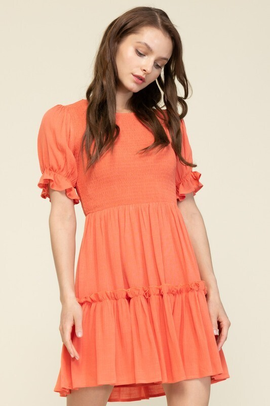 Baby Baby Dress-Coral