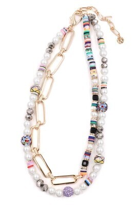 Pearl Mix Bead Necklace