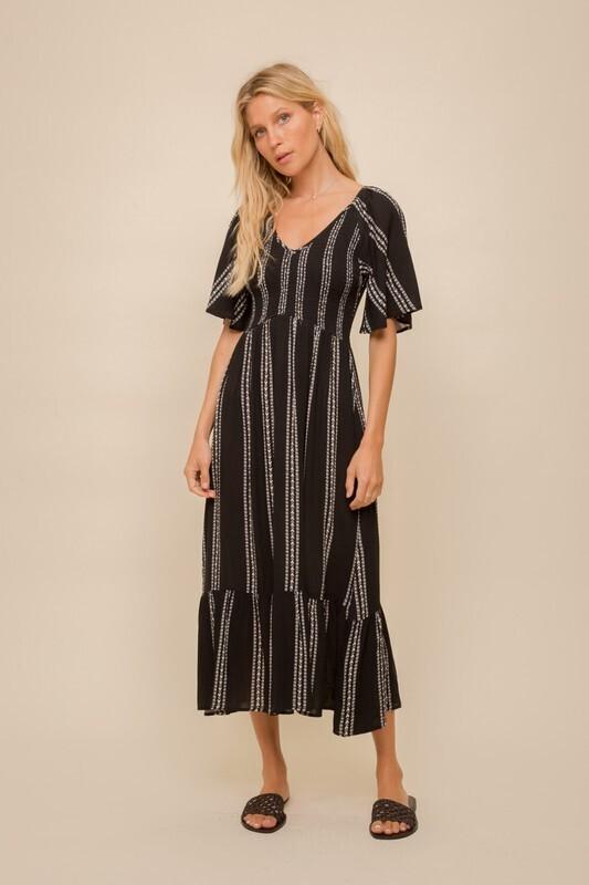 Fiona Maxi Dress-Blk