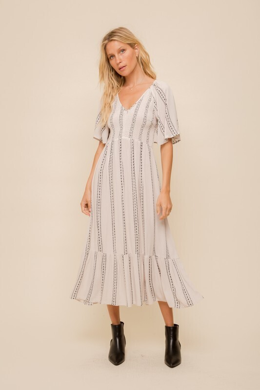 Fiona Maxi Dress-Natural