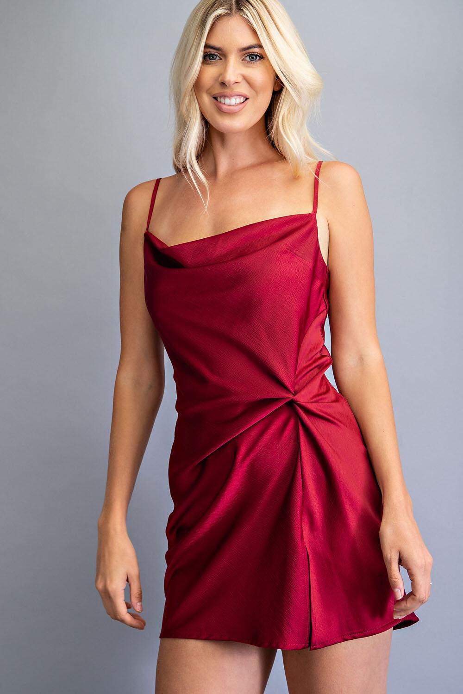 Lanie Dress-Crimson