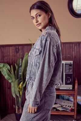 Worn In Cord Jacket-Grey