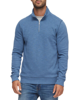 Zip Front Pullover-Blue