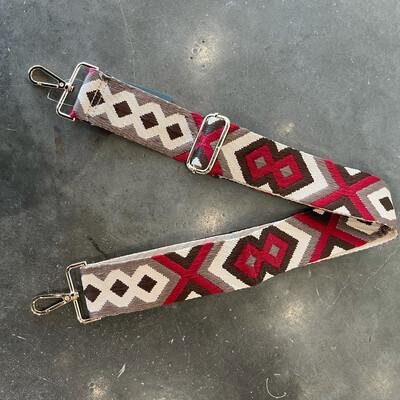 Aztec Strap-Maroon