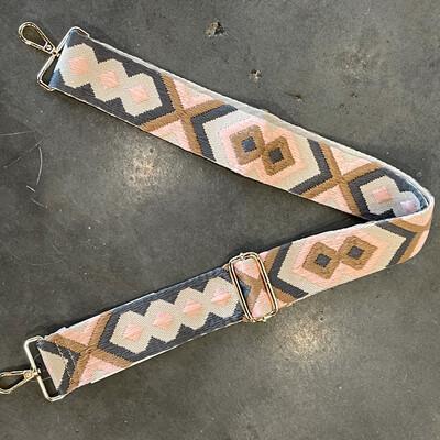 Aztec Strap-Pink Brn