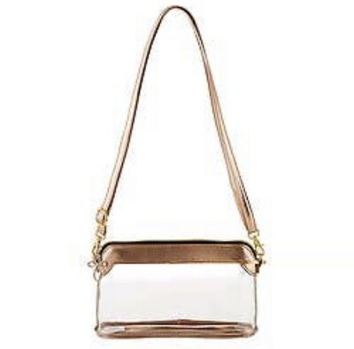 Clear As Day Bag-Rose Gold