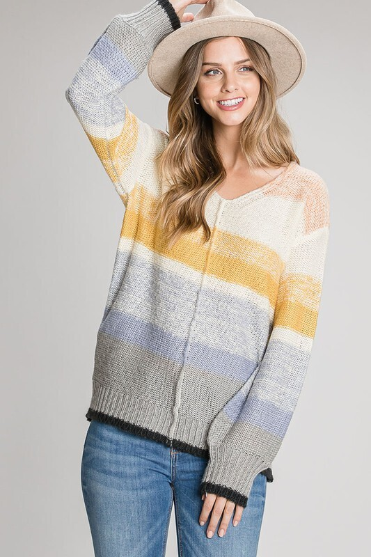 Fade In To Me Sweater-Blue