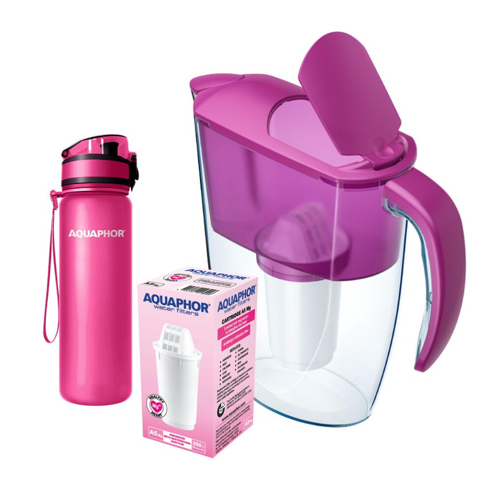 Pink Combo (Smile, 2xA5 Mg+, drinkfles)